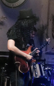 Posing as Slash at a gig